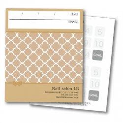 【二つ折りカード】モロッコ柄ライトブラウン