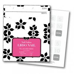 【二つ折りカード】モノトーンプラント ピンク
