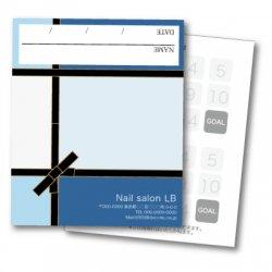 【二つ折りカード】アイシャドウパレット風 ブルー