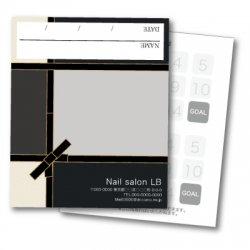 【二つ折りカード】アイシャドウパレット風 ブラック