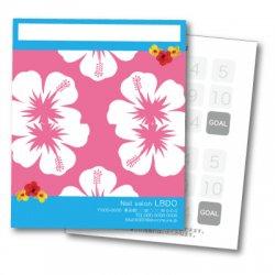 【二つ折りカード】ハイビスカス 濃いピンク