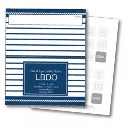 【二つ折りカード】マリン・ボーダー 紺色(マリン・西海岸風)