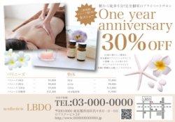 【美容サロン】リゾート・南国風・プルメリア  チラシ WH6000円