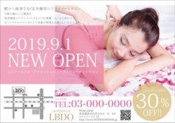 【チラシ】シンプル・スタイリッシュなチラシ ピンク