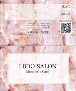 【二つ折りカード】大理石風 マーブル ピンク