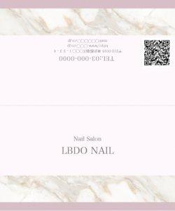 【二つ折りカード】大理石風シンプルライン ピンク