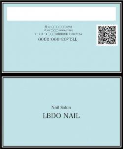 【二つ折りカード】ストライプリボン×パステルカラー ブルー