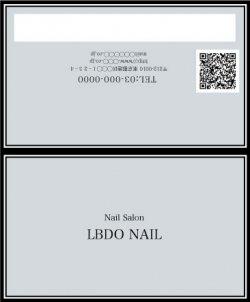 【二つ折りカード】ストライプリボン×パステルカラー グレー