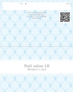 【二つ折りカード】クラシックモロッカン柄 ブルー