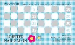 TC045:ギンガムチェックポイントカード40マス【ブルー】