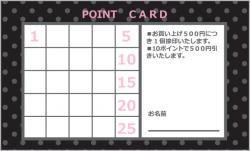 TC066:ポイントカード25マス【ブラック】