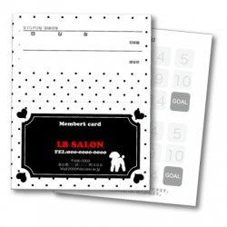 【二つ折りカード】ドット&プードル(ホワイト・ブラック)