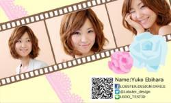 【写真入り名刺】:フィルム風&バラ×レースかわいい写真入り(3枚)