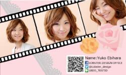 【写真入り名刺】フィルム風&バラ×レースかわいい写真入り(3枚)