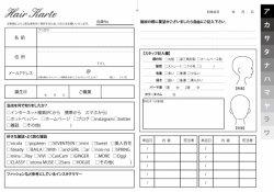 美容室(ヘアサロン・美容院)カルテ(500枚入!)