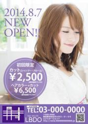 【かわいいチラシ】チラシ・フライヤー(パープル)3500円