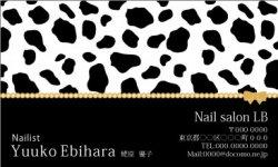 【かわいい名刺】ダルメシアン&ゴールドリボン