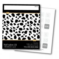 【二つ折りカード】ダルメシアン柄 2つ折りテンプレート ブラック