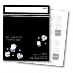 【二つ折りカード】ジュエリー(gems) 2つ折りテンプレート ブラック