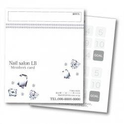 【二つ折りカード】ジュエリー(gems) 2つ折りテンプレート ホワイト