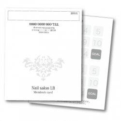 【二つ折りカード】シンプルダマスク柄 2つ折りテンプレート ホワイト