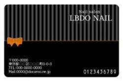 【PC_082】細ストライプ&リボン ブラック