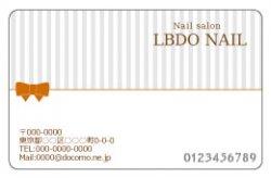 【PC_084】細ストライプ&リボン ホワイト