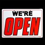 USサインボード / WE'RE OPEN ・CLOSED (営業中・閉店)