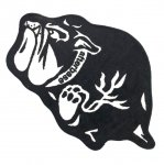 afterbase (アフターベース) / BULL DOG FLOOR MAT / BLACK