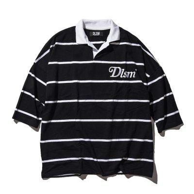 dlsm ディーエルエスエム dlsm ny logo big polo shirt black