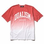 DLSM (ディーエルエスエム) / DUALISM UV ARCH LOGO GRADATION TEE / RED