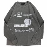 ADVANCE (アドヴァンス) / COMMANDMENT LS TEE � / CHARCOAL