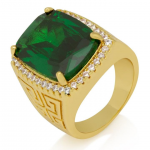 KING ICE (キングアイス) / EMERALD CROWN JULZ RING / 14K GOLD PLATED