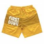 FIRST DOWN (ファーストダウン) / NYLON SHORTS / MUSTARD