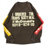TRAVIS SCOTT × Mc DONALD'S × CPFM / CPFM 4 CJ SOUVENIR LONG SLEEVE T-SHIRT / BROWN