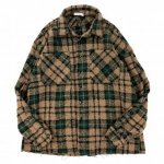mnml (ミニマル) / LOOSE WOVEN FLANNEL SHIRT / BROWN×GREEN