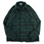 mnml (ミニマル) / LOOSE WOVEN FLANNEL SHIRT / GREEN