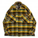 JADED LONDON (ジェイデッドロンドン) / MUSTARD PLAID CHECK OVERSIZED FLANNEL SHIRT / MUSTARD