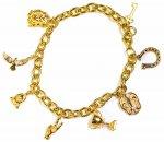 GOLDEN GILT (ゴールデン・ギルト) / LUCKY CHARM BRACELET / 18K GOLD PLATED