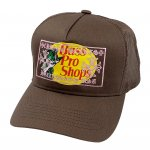 BASS PRO SHOPS × CHROME HEARTS INSPIRED TRUCKER HAT / BROWN