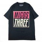 MIGOS (ミーゴス) / MIGOS THREE TEE / BLACK