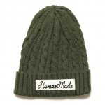 HUMAN MADE (ヒューマンメイド) / CABLE BEANIE / OLIVE DRAB