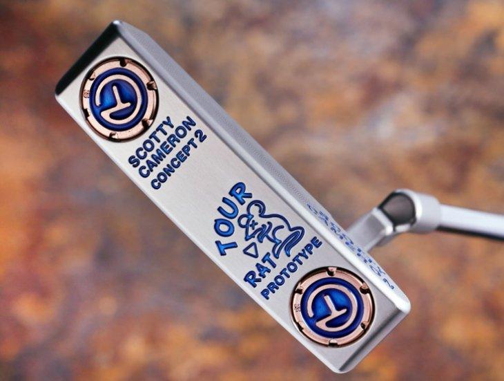 スコッティキャメロン ツアーパター ツアーラット Concept 2 SSS Translucent Blue 25g Deluxe circle T  weight