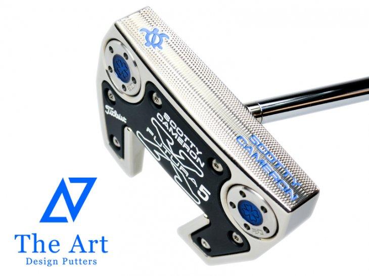 スコッティキャメロン カスタムパター 2016 FUTURA X5 [Lucky HONU] welded neck center shaft Platinum Custom ブルー 34イ…