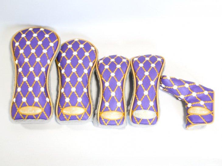 スコッティキャメロン ギャラリーヘッドカバー Purple Princess ヘッドカバーセット