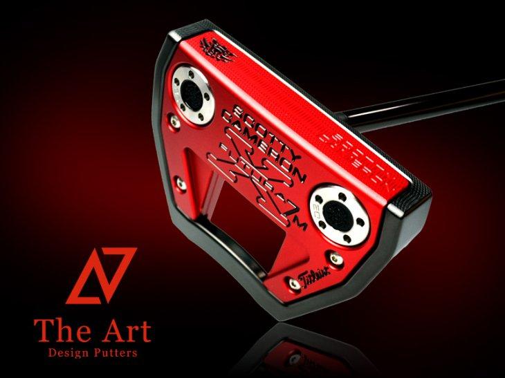 スコッティキャメロン カスタムパター X7M [NEXT] Black & Red Monster Skull ブラックセンターシャ…