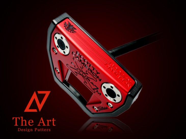 スコッティキャメロン カスタムパター X7M [NEXT] Black & Red Monster Skull マットブラックセンターシャ…