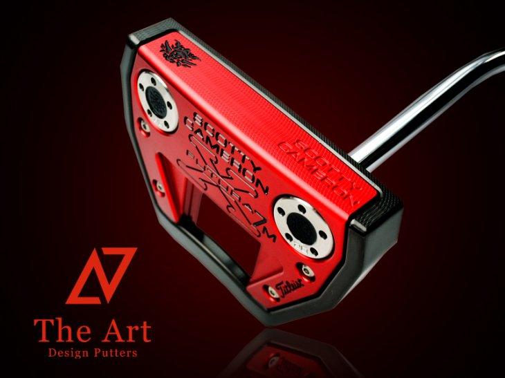 スコッティキャメロン カスタムパター Futura X7M [NEXT] Black & Red Monster Skull ノーマルベントシャ…