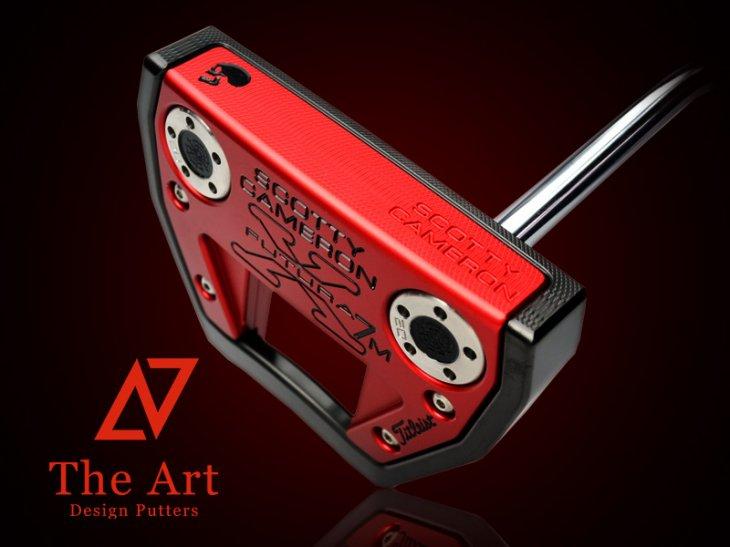 スコッティキャメロン カスタムパター Futura X7M [NEXT] Black & Red Side Face Skull ノーマルベントシャ…