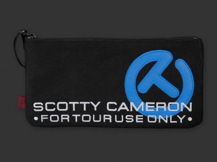 スコッティキャメロン サークルT Canvas Cash Bag [ブラック&ターボブルー]